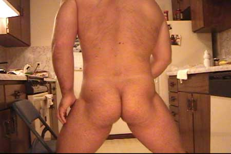 Hot Male Ass In The Kitchen!