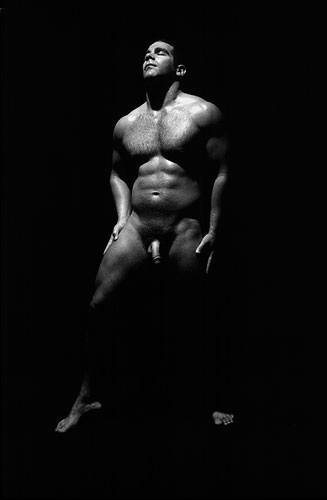 Beautiful Black And White Photo Of A Muscular Man