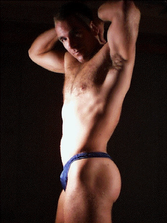 A Sexy Man In A Blue Thong!