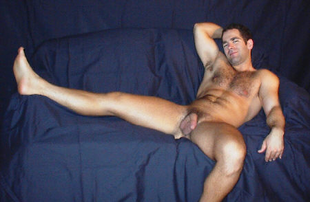 A Hairy Chested Muscular Man In Nude!